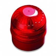 Intelligient Open Area Sounder Beacon Red With Red Lens